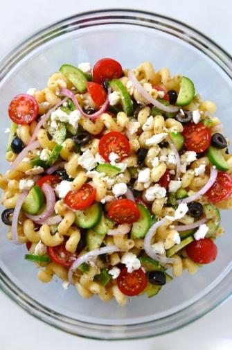 salada de macarrão