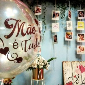 Decoração-dia-da-mães-mural-de-fotos