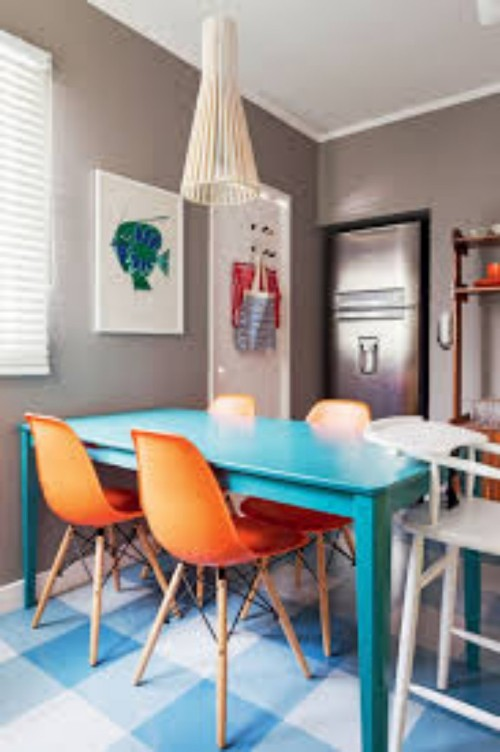 mesa azul